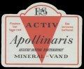 Appollinaris - kulsurt di�tisk bakteriefrit Mineralvand