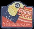 Citronvand - med bl� kant