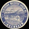Baiersk lager�l - med billede af bryggeriet - Rund etiket