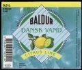 Dansk Vand Citrus Smag - 0,5 l - Brystetiket