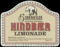Hindb�r Limonade - Brystetiket