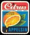 Appelsin Sukkerfri - Brystetiket