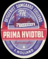 Prima Hvidt F. Holland - Oval Brystetiket