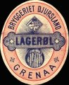Lager�l - Oval Brystetiket