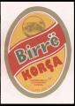 Birra Korca - Red forefround on yellow background