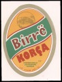 Birra Korca - Green foreground on yellow background