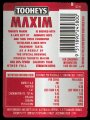 Maxim - Max taste less Cals - Backlabel