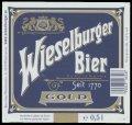 Wieselburger Bier Gold - Frontlabel