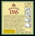 Hoegarden Das - Backlabel