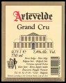 Artevelde Grand Cru - Backlabel