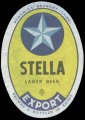 Stella Lager beer Export - Yellow label with white border