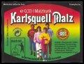 Karlsquell Malz - 0,33 Malztrunk - Frontlabel