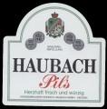 Haubach Pils - Frontlabel