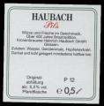 Haubach Pils - Backlabel