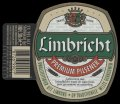 Limbricht Premium Pilsener - With hanger on left side with barcode