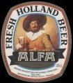 Alfa Fresh Holland Beer - Oval Label