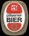 VK Super Pilsener Bier - Oval Label