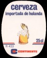 Continente Cerveza - Oval Label