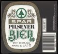 Spar Pilsener Bier - Backlabel with barcode