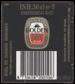 Golden M - Backlabel with barcode