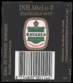 Bavaria Pilsener Beer - Backlabel with barcode