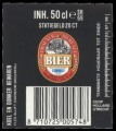 Coop Bier - Backlabel with barcode