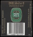 Pion Pils - Backlabel with barcode