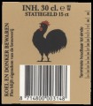 Backlabel with barcode