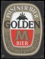 Golden M Bier - Squarely Frontlabel