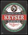 Keyser Pilsener Bier - Squarely Frontlabel
