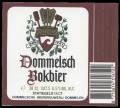 Dommelsch Bokbier - Frontlabel