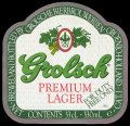 Premium Lager For Duty Free Only - Frontlabel