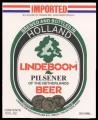 Lindeboom Pilsener of The Netherlands Beer export USA - Frontlabel