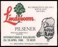 Lindeboom Pilsener speciaal gebotteld voor de Internationale Ruilbeurs 25 / 26 april 1986 - Frontlabel