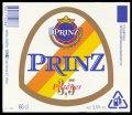 Prinz Pilsener 3,5 - Frontlabel with barcode