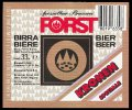 Forst Kronen Speciale - Frontlabel with barcode