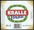 Kralle Br�u 66 cl - Frontlabel with barcode
