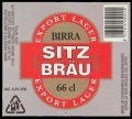 Sitz Br�u 66 cl - Frontlabel with barcode