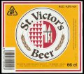St. Victors Beer 66 cl - Frontlabel with barcode