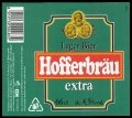 Hofferbr�u extra 66 cl - Frontlabel with barcode