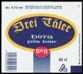 Drei T�ler birra pils bier 66 cl - Frontlabel with barcode