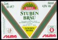 Stuben Br�u golden mark 33 cl - Frontlabel