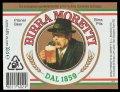 Birra Moretti - Frontlabel with barcode