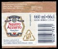 Nastro Azurro Export Lager 66 cl - Backlabel with barcode