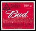 Bud king of Beer 33 cl - Backlabel