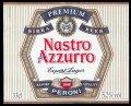 Nastro Azurro Export Lager 33 cl - Frontlabel