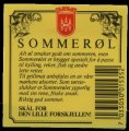 Sommer�l - Backlabel