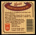 Lauritz Dortmunder - Backlabel