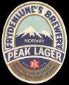 Peak Lager - Frontlabel