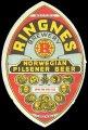 Ringnes Norvegian Pilsener Beer - Frontlabel